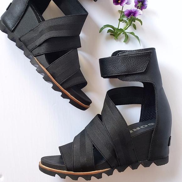 *NEW* Sorel Joanie Gladiator II Wedge Sandals BK